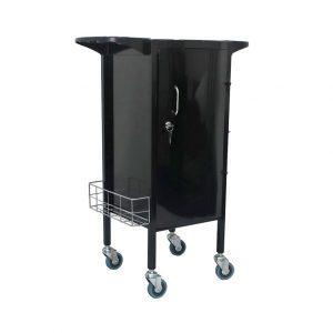 alicia lockable salon trolley