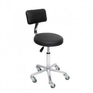 black round stool with back