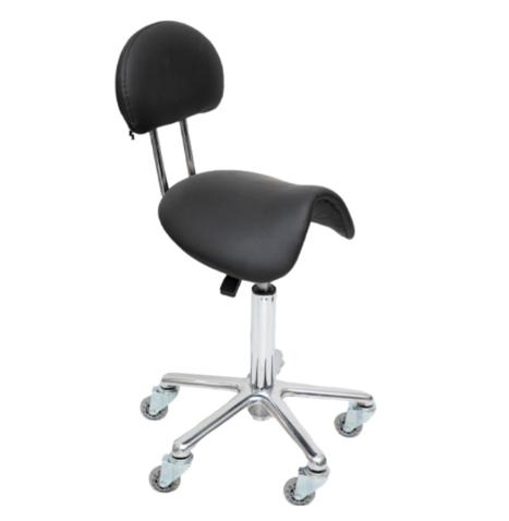 saddle stool with back