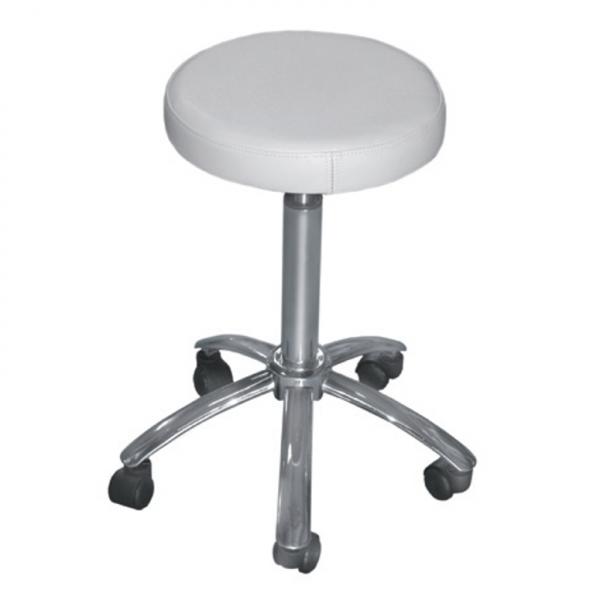 white round beauty stool