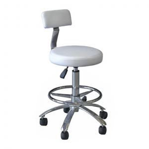 white round stool with back